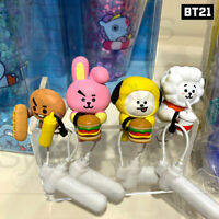 BTS BT21 Official Authentic Goods Cup Figure BITE Ver Drink Marker + Tracking