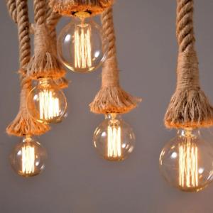2 Meter Pendant Ceiling Lamp Ceiling Rope Lamp Ceiling Lighting Decorative Rope