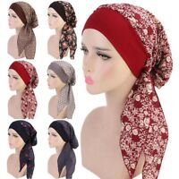 Lady Head Scarf Chemo Hat Turban Hijab Headwear Bandana Beanie Cancer Cap Wraps