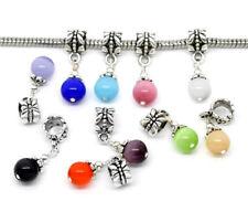 10 Charm European Katzenauge Dangle Perlen Beads Anhänger für Halskette FL