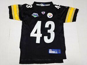 Troy Polamalu #43 Pittsburgh Steelers NFL Super Bowl XLIII Jersey Youth Kids S 8