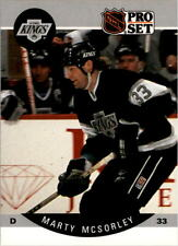 1990-91 PRO SET HOCKEY MARTY MCSORLEY CARD #124 LOS ANGELES KINGS NMT/MT-MINT