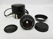 OLYMPUS ZUIKO 28MM F3.5 LENS WIDE ANGLE OM MANUAL FOCUS WITH HOOD & CASE Free SH