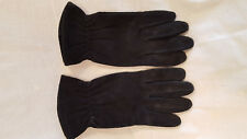 Black suede thinsulate gloves L Gates