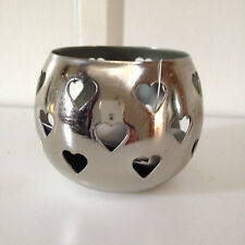 Chrome heart design t-light holder perfect valentines decoration/gift