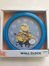New Despicable Me Minions Blue & Yellow Decorative Battery Operated Wall Clock