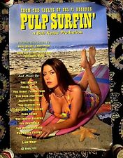 1995 PULP SURFIN' ORIGINAL DELFI RECORDS 20X30 PROMO POSTER FRANK ZAPPA HOT TITS