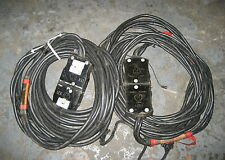100A 125V 2/3 2 AWG 3 Conductor Stage Pin Cable 25' 25 Ft Group 5 Union Mole
