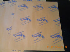S&W Factory Vci Parchment Papers ( Lot of 10 Sheets)