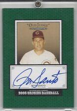 2005 Upper Deck Old Judge baseball card autographed Ron Santo Chicago Cubs HOFer