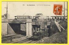 cpa 92 - La GARENNE COLOMBES Le PONT de CHARLEBOURG TRAIN à Vapeur TRAMWAY