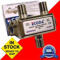 Lot of (10) Ten - ECODA 22KHz Tone 2x1 Multi Satellite FTA Switches - 0/22 KHz