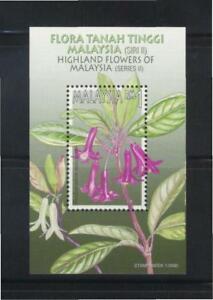 MALAYSIA 2000 HIGHLAND FLOWERS OF MALAYSIA SERIES II SOUVENIR SHEET 1 STAMP MINT