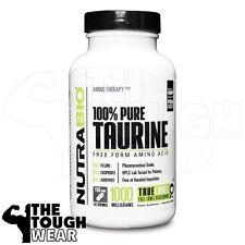 NUTRABIO - TAURINE 1000mg 150caps - Free Form Amino Acid - 100% Pure
