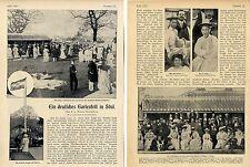 Ein deutsches Gartenfest in Söul (Korea) Orig.-Bild-Report m.histor.Aufn.c.1904