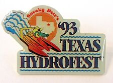 1993 TEXAS HYDROFEST tack pin button Hydroplane boat racing