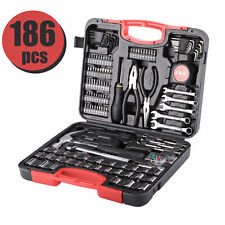 186 Pieces Home Repair Tool Set Carbon Steel