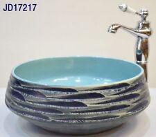 Round Bathroom Cloakroom Ceramic Counter Top Wash Basin Sink Washing Bowl