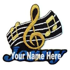 Music Custom Iron-on Patch With Name Personalized Free