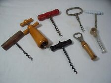 Various Wood & Metal Corkscrews of Various Types