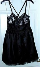 Olsenboye Party Dress size 5, black & silver  Fluff netting & sequin straps NWT