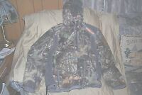 Mens Large Nomad Hooded Jacket Berber Fleece Camo Jacket Hunting Jacket Quiet