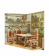 Room box for doll 11x11x10cm cardboard dollhouse kit kitchen room