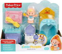 Fisher Price LITTLE PEOPLE Baby Deluxe Wash and Go Play Set