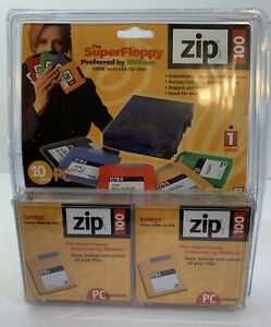 Iomega Zip 100MB Disks - 10 Pack New Sealed NIB PC Formatted