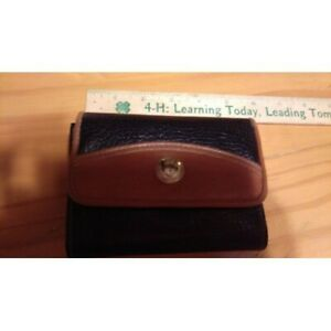 """BLACK & BROWN VINYL WALLET 5""""L X 4""""W WITH Side Coin Compartment UNBRANDED"""