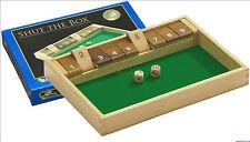 Würfelspiel Shut the box 9er aus Holz Brettspiel Klappenspiel