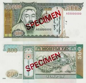 Mongolia 2000 - 500 tugrik - Pick 65A UNC SPECIMEN