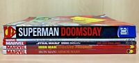 Lot of 5 Comic Books (4 Marvel & 1 DC) - Used Books Iron Man Star Wars Superman