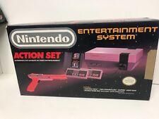 Nintendo NES ACTION SET complete in box original console W/Mario game bundle