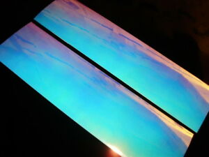 """MOON JELLY GLOW UV Fishing Lure Tape 3"""" x 12"""" 2 PK Free Lure Tapes!"""