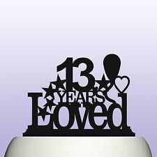 Acrilico personalizzato ragazzo/ragazza 13th compleanno anni amava Cake Topper Decorazione