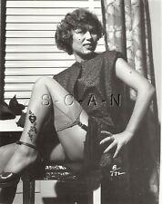 Original Vintage 1940s-60s Nude RP- Older Woman- Up Skirt- Decorative Stockings