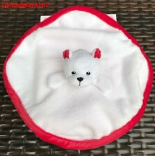 New American Girl Bitty Twins Baby Polar Bear Lovie NIB Blanket Red & White