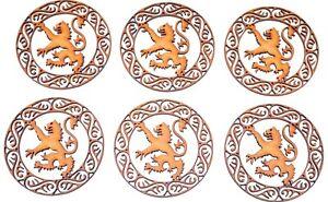 Wooden MDF Blank shape - Scottish Rampant Lion in Celtic circle - set of 6 items