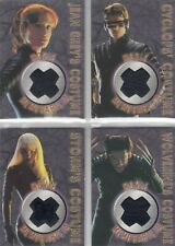 Topps X-Men Movie 4 Card Costume Set Wolverine Storm Jean Grey Cyclops