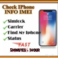 Fast Instant IMEI Network SIM Unlock Status Check Report GSX For All iPhone iPad