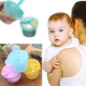 Hot 3 Doses Formula Container of Baby Milk Powder Dispenser Snack Pot Storage