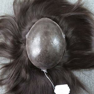 European Virgin Hair Replacement Hair Toupee All Injection Skin Noblehairplus