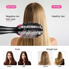 One Step 3 In 1 Hair Dryer Combs Straightening Curling Iron Rotating Electric