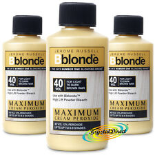 3x JEROME RUSSELL BBLONDE CREAM PEROXIDE 40vol 12% 75ml