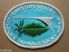 Creston Valley Wildlife Management Area Woven Cloth Patch Badge