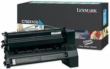 Lexmark GENUINE CYAN/BLUE Laser Printer Toner Cartridge C782X1CG C782,X782