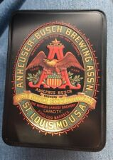 Anheuser-Busch Brewing Budweiser Playing Cards - 2 Sealed Decks with Metal Box