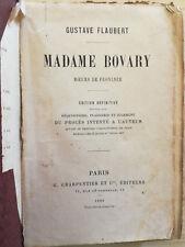 Madame Bovary, Flaubert - Paris, Charpentier & C. 1889