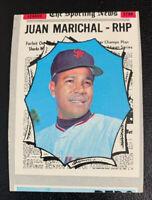 1970 Juan Marichal All Star # 466 San Francisco Giants Topps Baseball Miscut HOF
